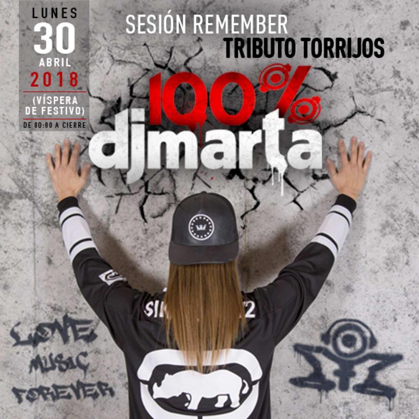 Imagen Fiesta 100% Dj Marta 2018  1