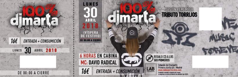 Imagen Fiesta 100% Dj Marta 2018  2