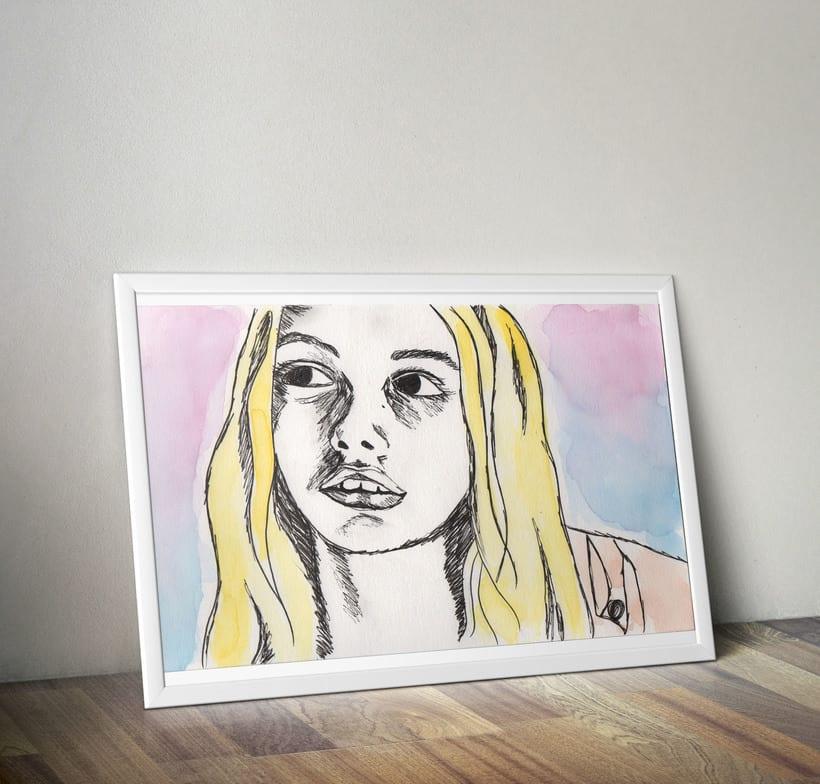 Pinturas en acuarela  -1