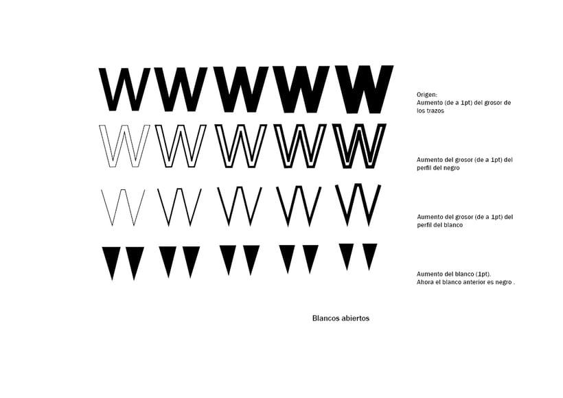 Tipográfico. Catálogo de blancos y negros  24