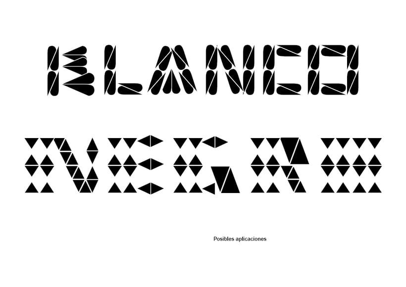 Tipográfico. Catálogo de blancos y negros  38