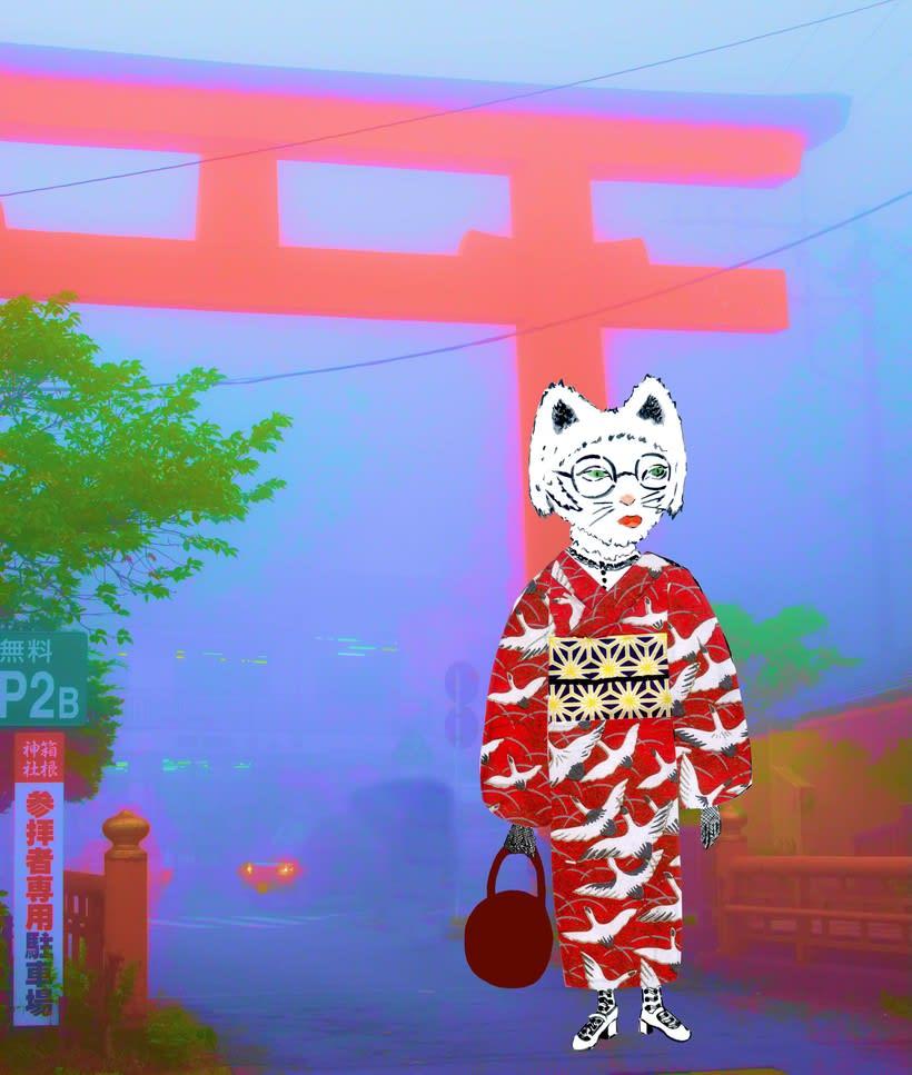 Neko Kimono -1