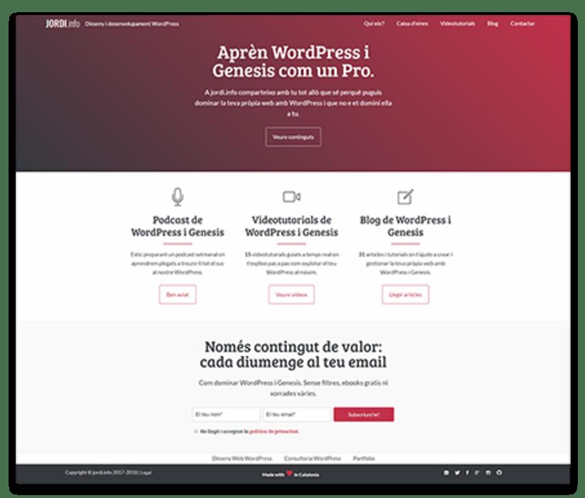 Diseño y desarrollo WordPress para Jordi Garcia Codina | Jordi Garcia Codina 2