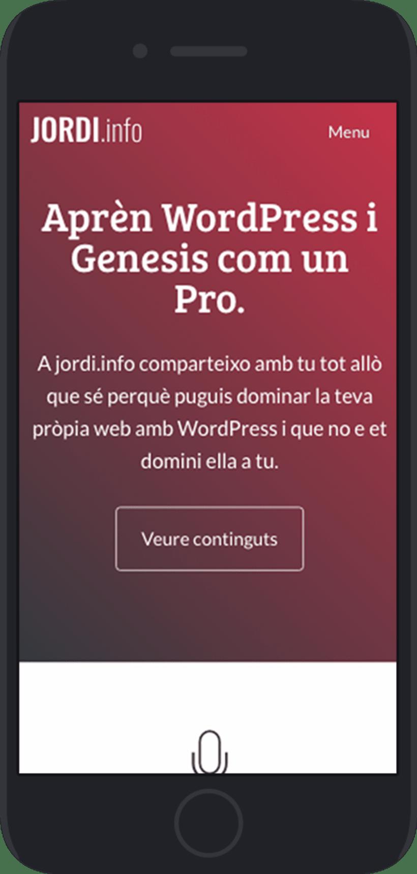 Diseño y desarrollo WordPress para Jordi Garcia Codina | Jordi Garcia Codina 1