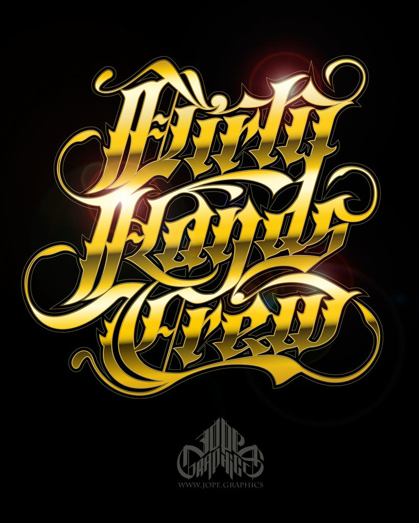 Lettering Dirty Hands Crew -1