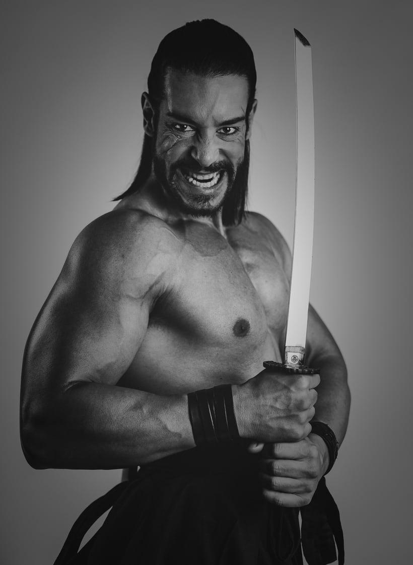 El Samurai ( recreación de un guerrero ) -1