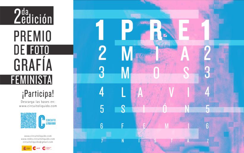 Cartel para premio de fotografía feminista -1