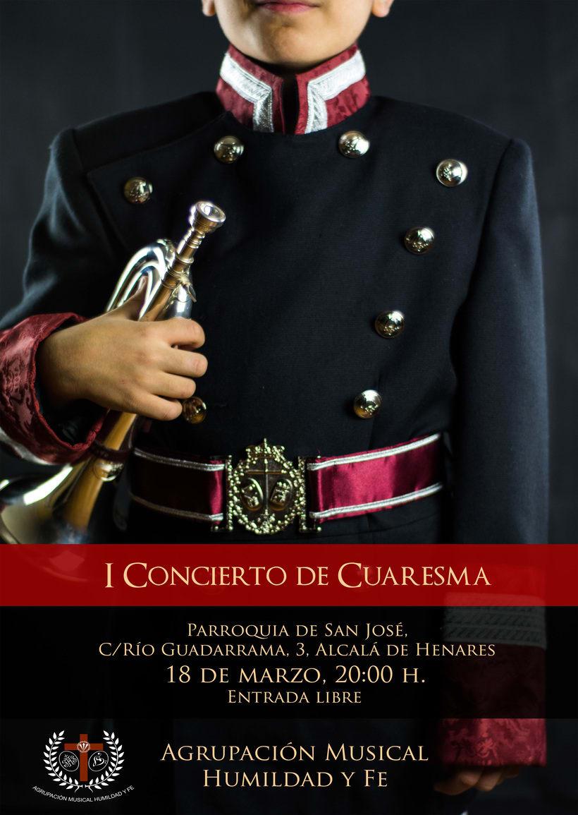 Cartel I Concierto de Cuaresma, A.M. Humildad y Fe -1