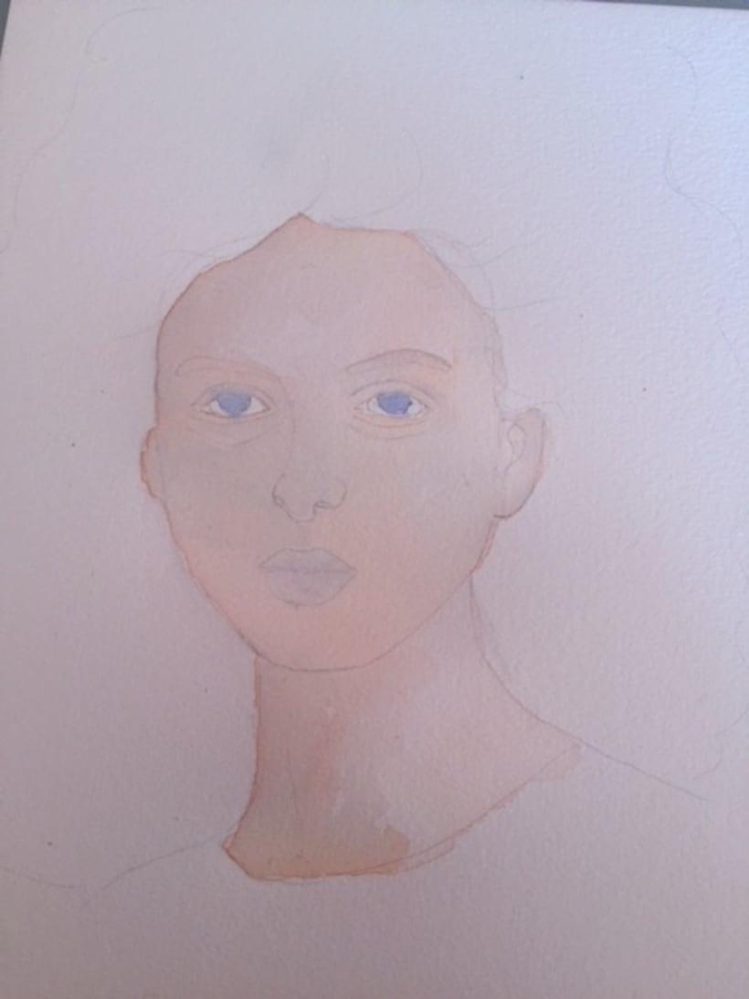 Mi Proyecto del curso: Retrato ilustrado en acuarela 0