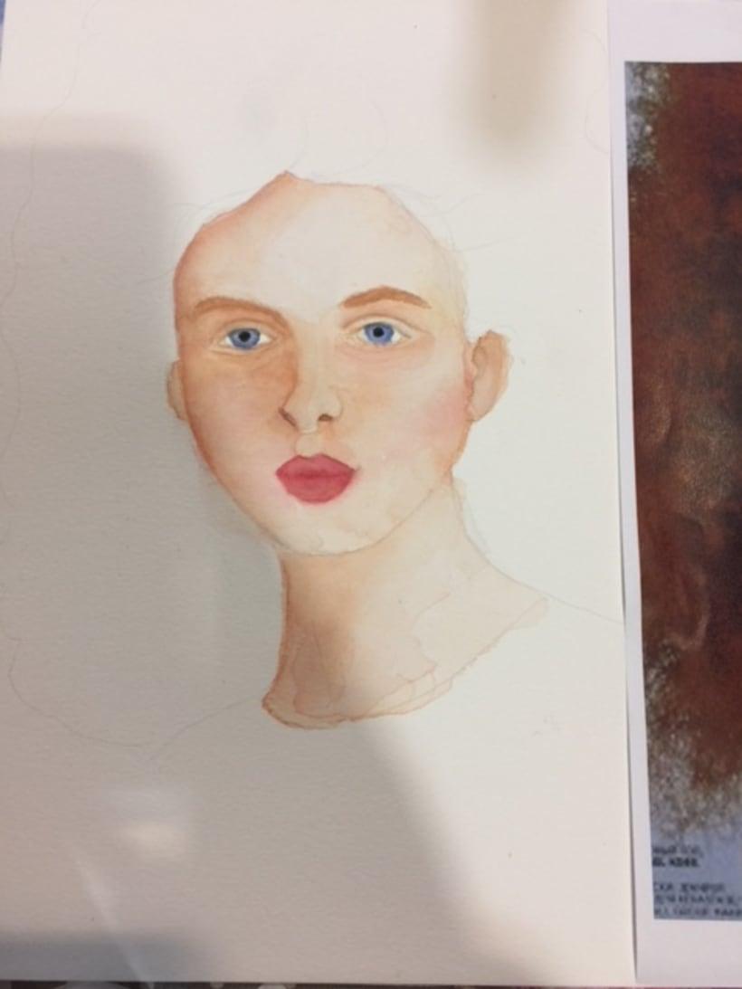 Mi Proyecto del curso: Retrato ilustrado en acuarela 2
