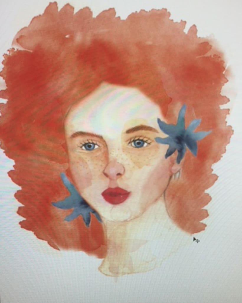 Mi Proyecto del curso: Retrato ilustrado en acuarela 4