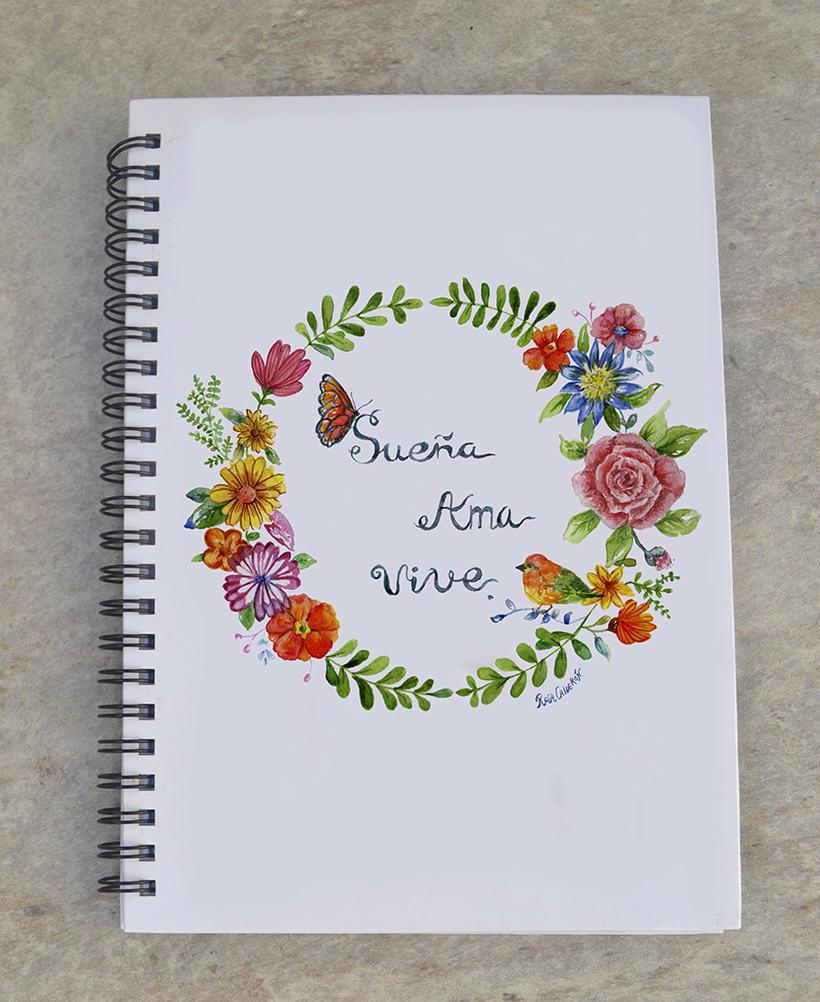 Mi Proyecto del curso: Rosetón de flores 3