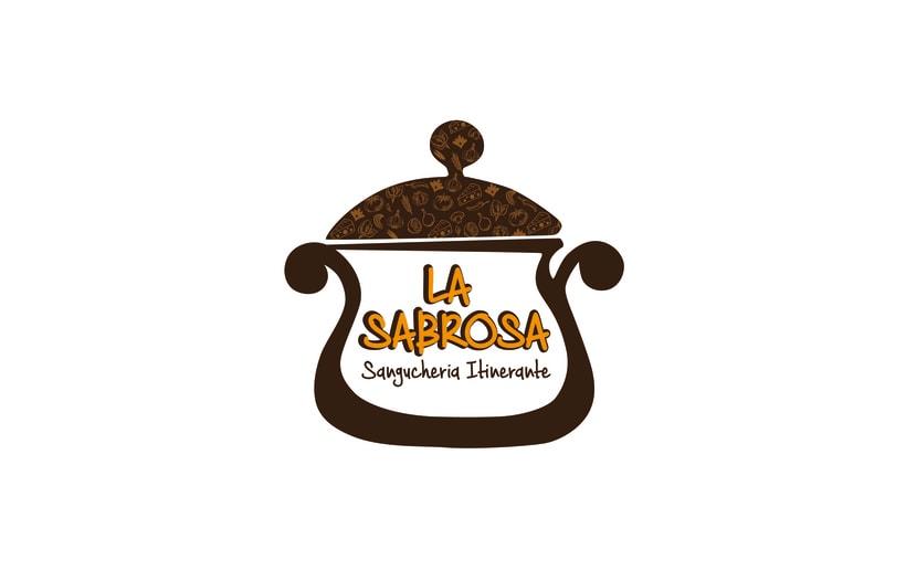 La Sabrosa Food truck // Diseño de identidad corporativa y rotulación de food truck 0