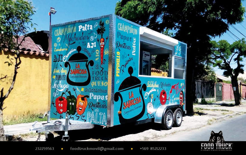 La Sabrosa Food truck // Diseño de identidad corporativa y rotulación de food truck 1