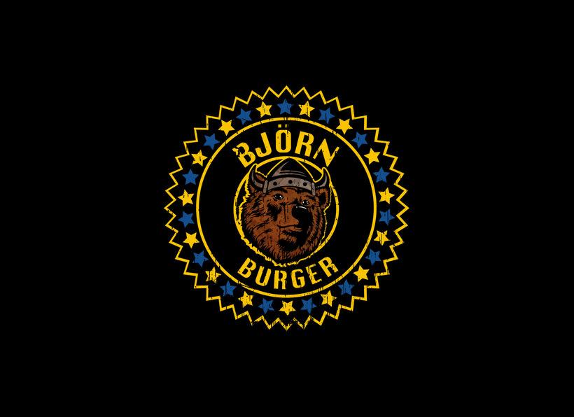 BJÖRN BURGER Food Truck // Diseño de imagen corporativa y rotulación de food truck 0