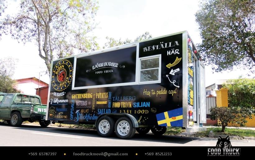 BJÖRN BURGER Food Truck // Diseño de imagen corporativa y rotulación de food truck 1