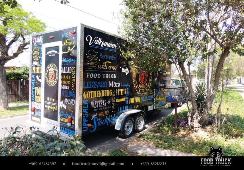 BJÖRN BURGER Food Truck // Diseño de imagen corporativa y rotulación de food truck 3