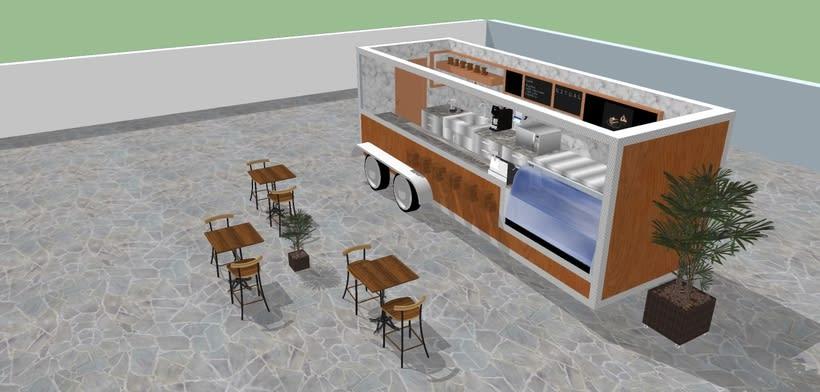 RITUAL Cafetería Food truck // Propuestas en 3D 1
