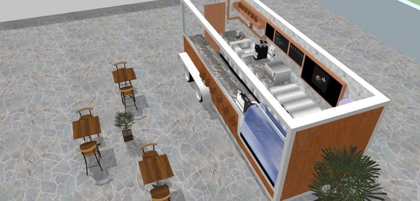 RITUAL Cafetería Food truck // Propuestas en 3D 2
