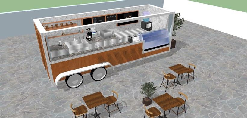 RITUAL Cafetería Food truck // Propuestas en 3D 3