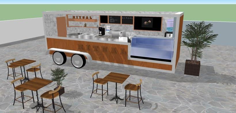 RITUAL Cafetería Food truck // Propuestas en 3D 4