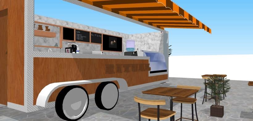 RITUAL Cafetería Food truck // Propuestas en 3D 6