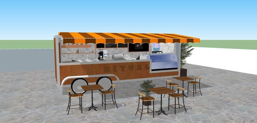 RITUAL Cafetería Food truck // Propuestas en 3D 7