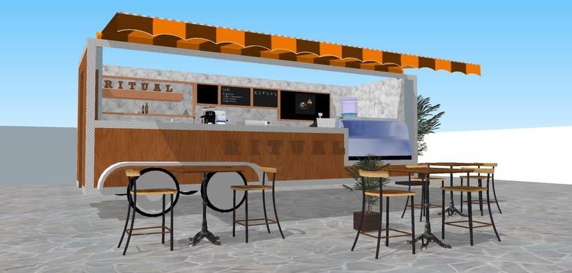 RITUAL Cafetería Food truck // Propuestas en 3D 8