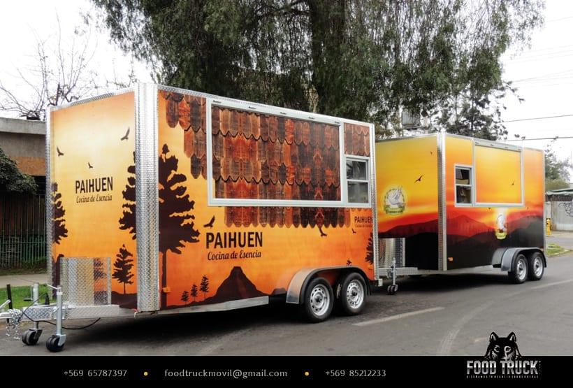 PAIHUEN Cocina de Esencia // Diseño de rotulación de Food truck 0
