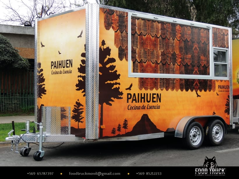 PAIHUEN Cocina de Esencia // Diseño de rotulación de Food truck 1
