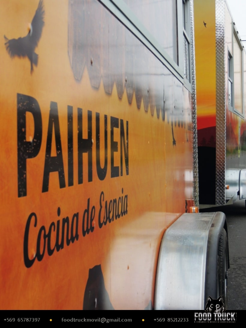 PAIHUEN Cocina de Esencia // Diseño de rotulación de Food truck 3