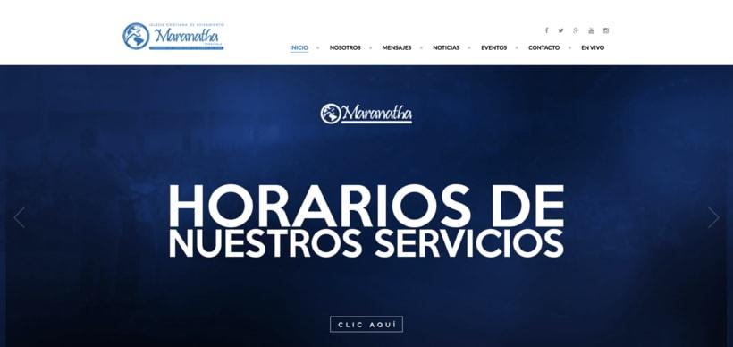 Desarrollo sitio Web  Iglesia Maranatha 0