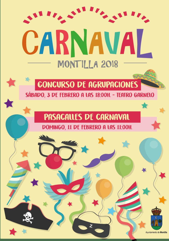Cartel Carnaval Montilla 2018 -1