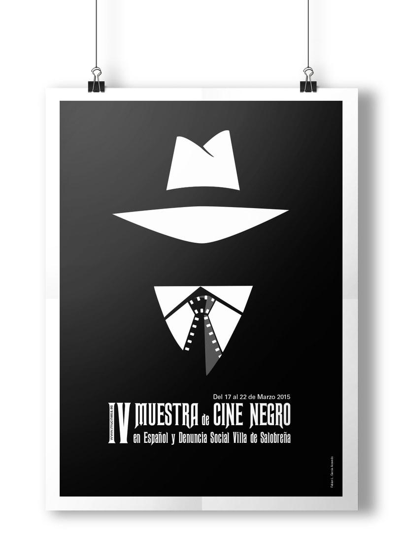 Cartel Muestra de Cine Negro #poster, #graphicdesing, #illustration -1