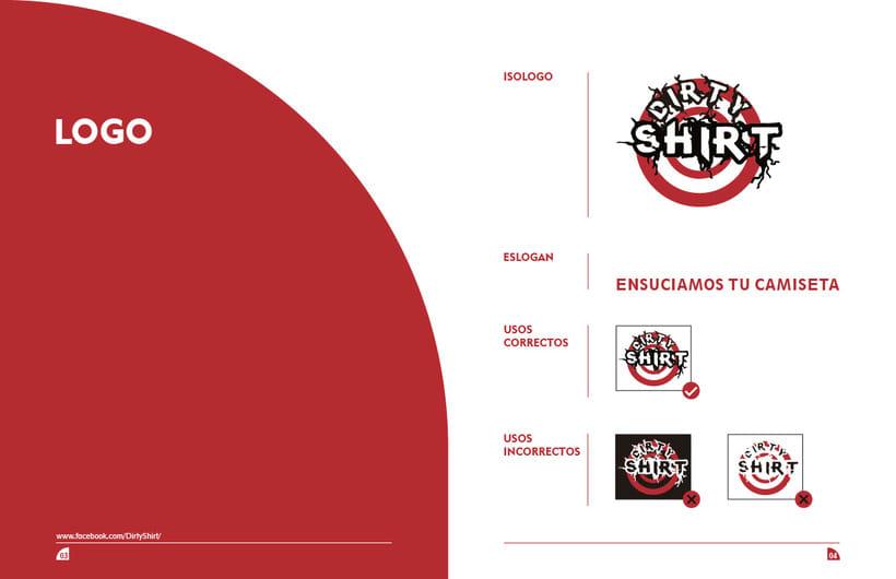 Manual de marca DirtyShirt Ropa 1
