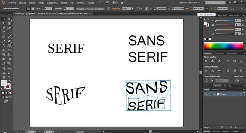 Personaje tipográfico en Illustrator -1