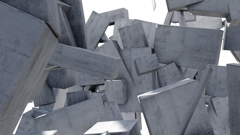 Vídeo 3D en 360º, cubos suspendidos en el aire -1