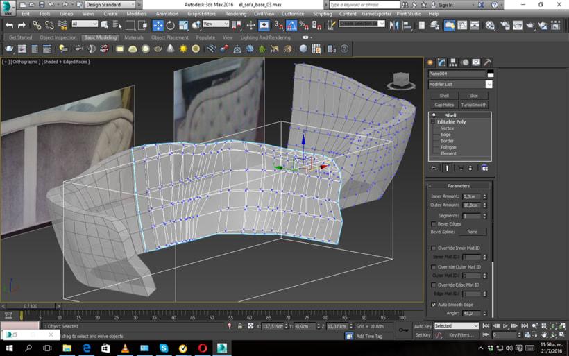 Modelado y Esculpido de Sofá y Sillón a medida 0