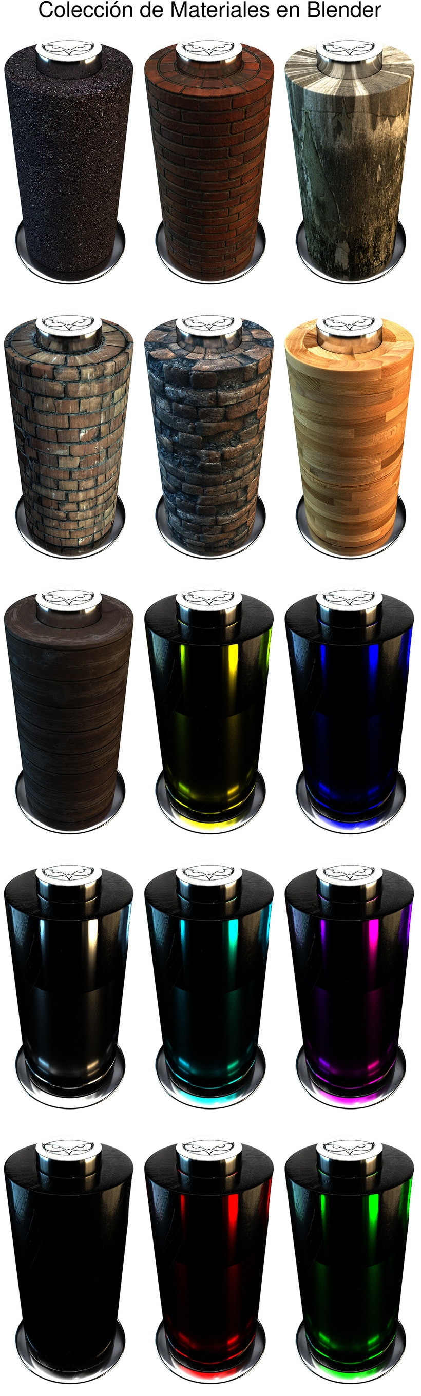 Materiales Creados en Blender Cycles -1