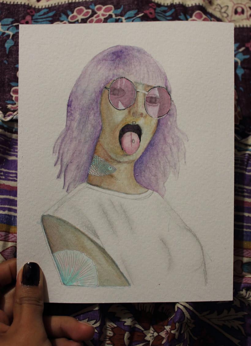 Mi Proyecto del curso: Retrato ilustrado en acuarela 3