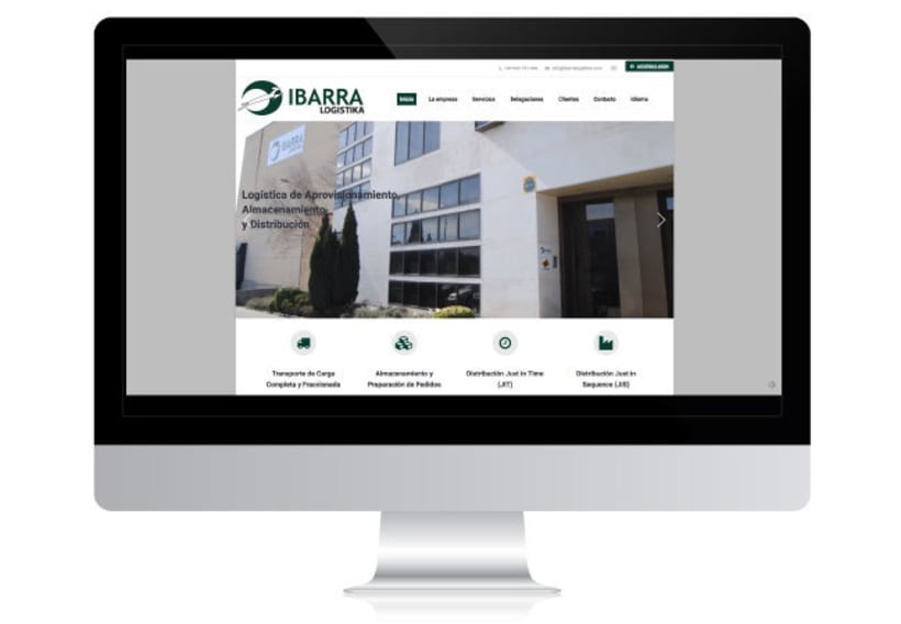 Desarrollo de Web Corporativa - IBARRA LOGISTIKA -1