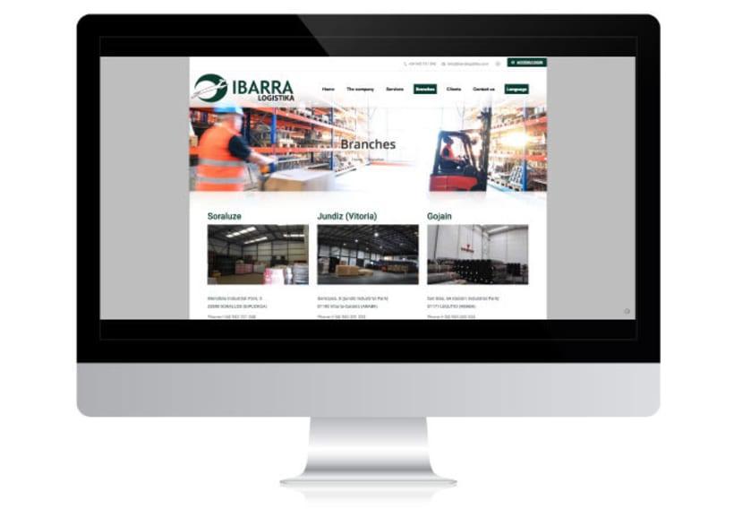 Desarrollo de Web Corporativa - IBARRA LOGISTIKA 0
