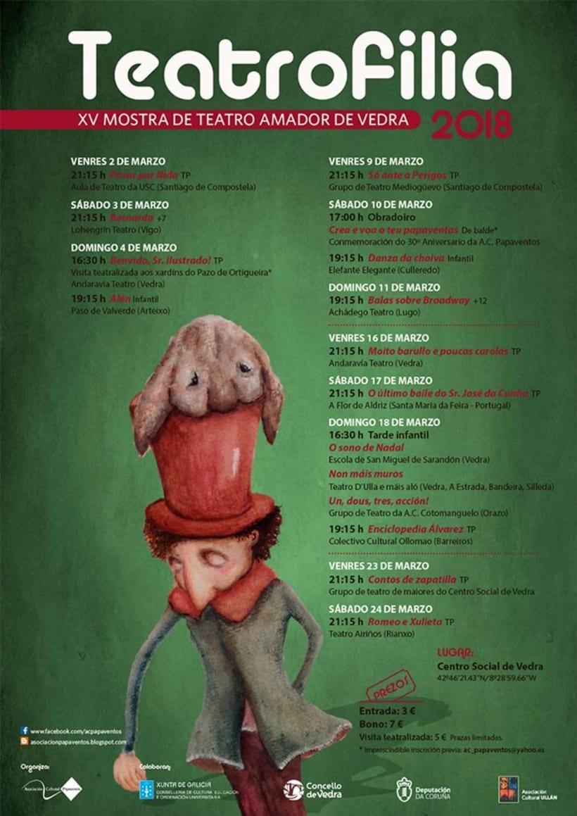 """Cartel """"Teatrofilia 2018"""" -1"""
