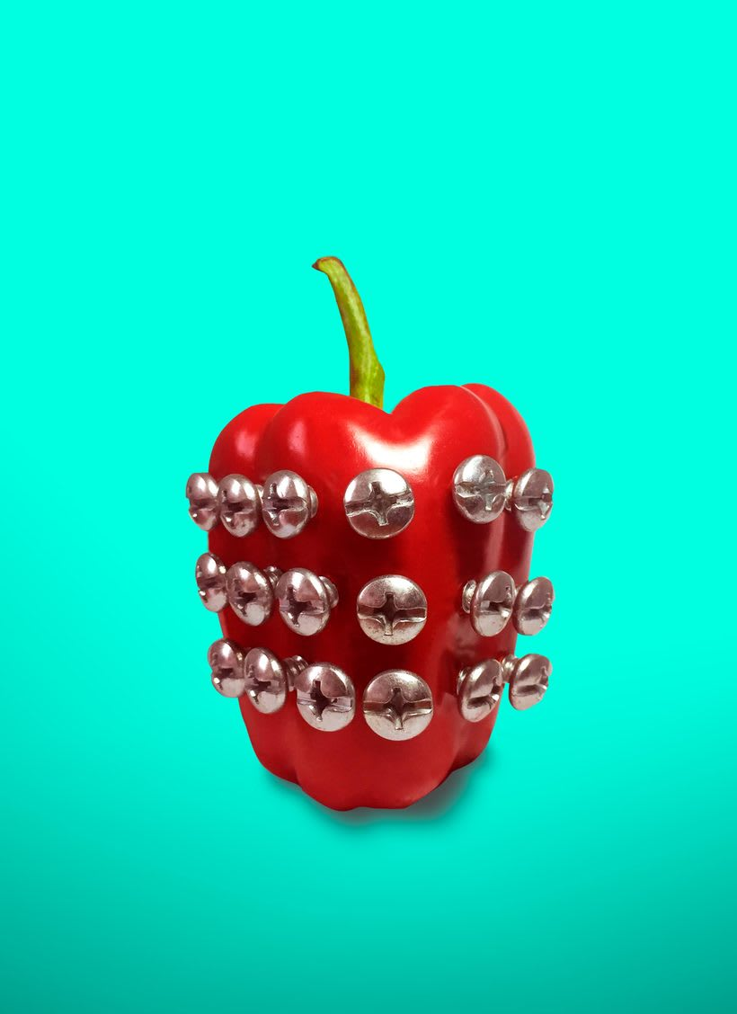 Pimiento PUNK - Proyecto del curso: Creación de imágenes Pop Art con objetos cotidianos -  -1