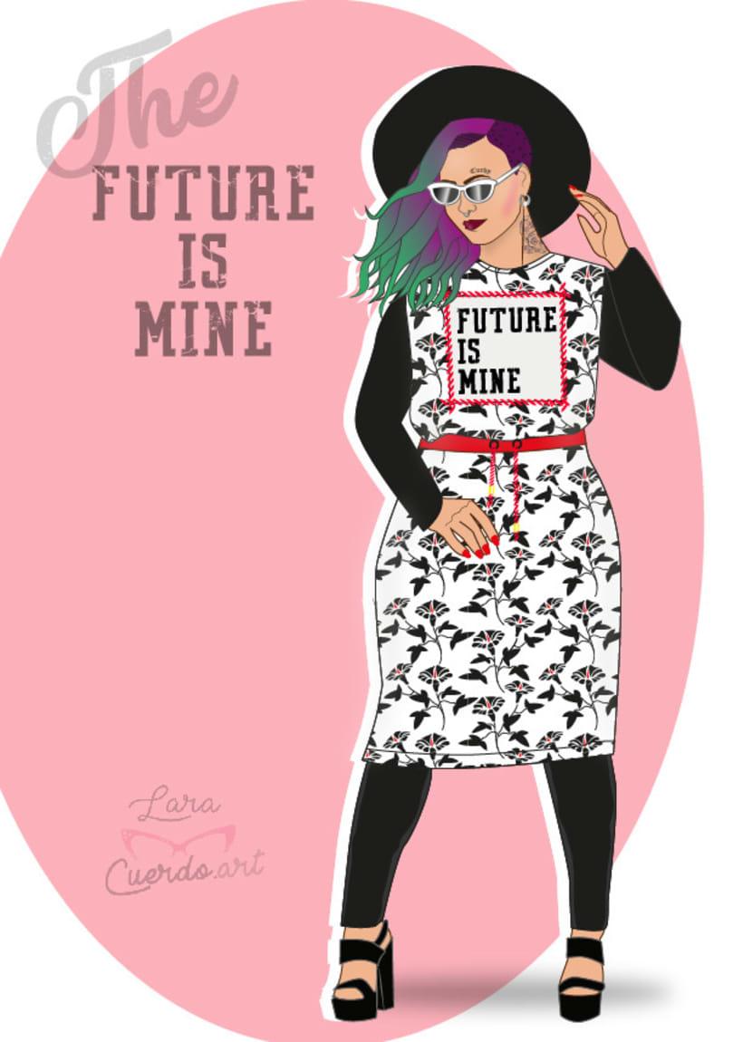 """Ilustración Curvy """"The future is mine"""" 0"""