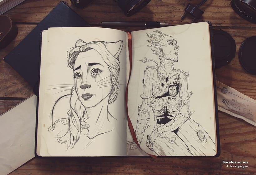Más bocetos de los míos perdidos por ahí. -1