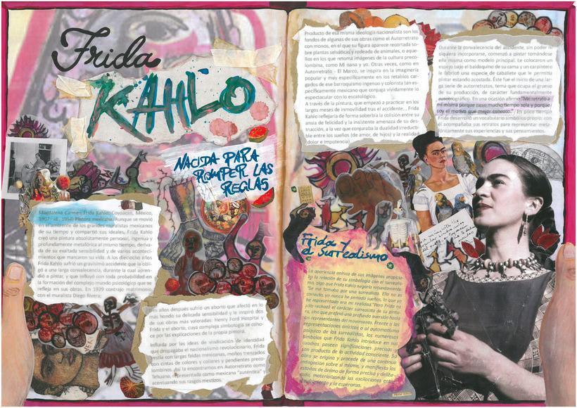 Doble página, DIARIO de Frida KAHLO 0