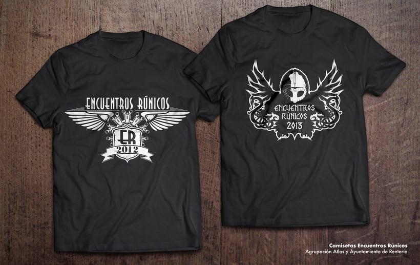 Diseño de camisetas de Encuentros Rúnicos para la Agrupación Atlas de Errenteria.  -1
