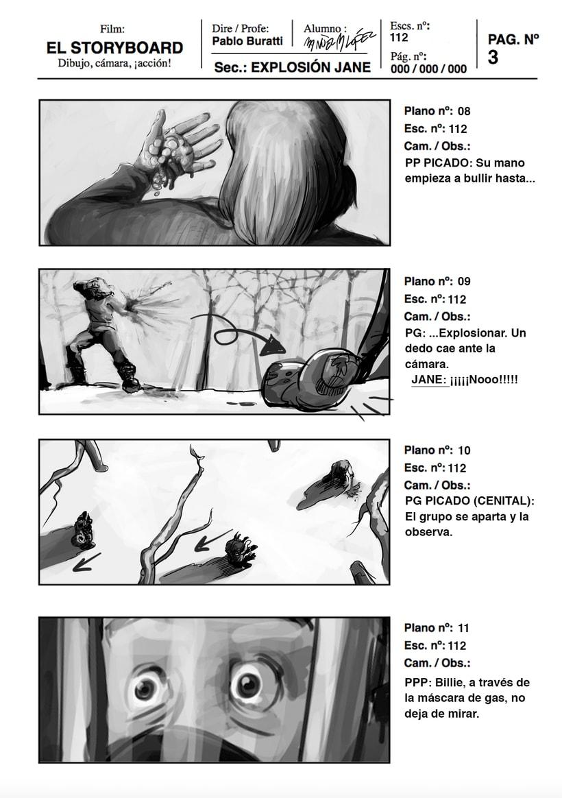 Mi Proyecto del curso: Ilustración de storyboards para Cine y Publicidad<3e 2