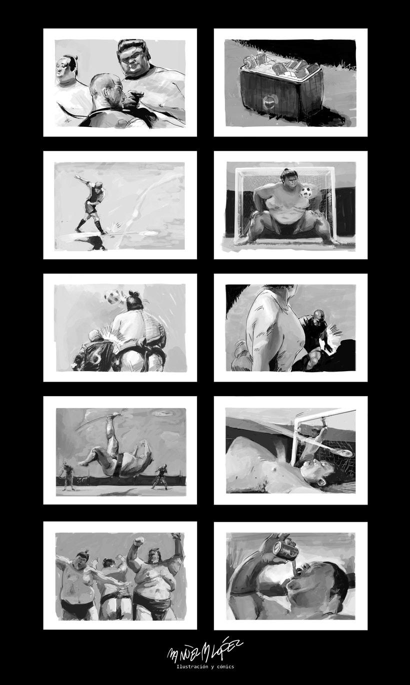 Storyboard agencia: Pepsi allstars vs. Sumos -1